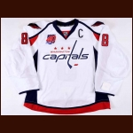 "2014-15 Alex Ovechkin Washington Capitals Game Issued Jersey – ""Capitals 40-year Anniversary"" – Team Letter"