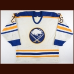 1993-94 Donald Audette Buffalo Sabres Game Worn Jersey - Photo Match