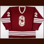 1986-87 Jeff Brubaker Hershey Bears Game Worn Jersey - Hershey vs. Rochester Playoff Brawl