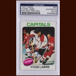 Yvon Labre 1975 Topps – Washington Capitals – Autographed – PSA/DNA
