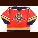 2006-07 Craig Anderson Florida Panthers Game Issued Jersey – Alternate – Team Letter