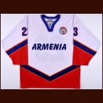 2005-06 Joe Elmazyan Team Armenia World Championships Game Worn Jersey