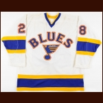 1984-85 Greg Paslawski St. Louis Blues Game Worn Jersey