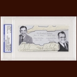 James Norris, Jr & Arthur Wirtz Autographed Card - The Broderick Collection - Deceased