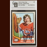 "1974-75 OPC Michel ""Bunny"" Larocque Montreal Canadiens Autographed Card – Deceased – GAI Certified"