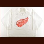 Early 1990's Kelly Hurd Detroit Red Wings Practice Worn Jersey