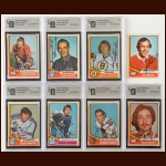 1974-75 OPC Autographed Card Group of (65) – Most GAI Certified – Includes Hall of Famers and Deceased