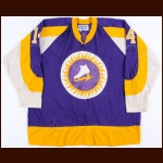 1973-74 Brian Bradley WHA New York Golden Blades Game Worn Jersey – Original Name on Back