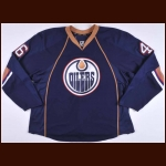 2009-10 Zack Stortini Edmonton Oilers Game Worn Jersey – Alternate - Photo Match