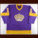 1979-80 Charlie Simmer Los Angeles Kings Game Worn Jersey - 1st Team NHL All Star - League Leading 56-Goal Season