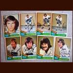 1974-75 OPC Autographed Canucks group of 8