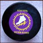 New York Golden Blades Official Hockey Logo Puck