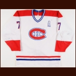 1987-88 Luc Gauthier Sherbrooke Canadiens Game Worn Jersey