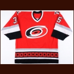 2001-02 Tom Barrasso Carolina Hurricanes Game Worn Jersey - Photo Match – Tom Barrasso Letter