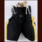 WHA Cincinatti Stingers Yellow & Black Game Worn Pants – Possibly Worn by Mark Messier and James Hislop