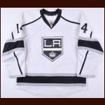 2013-14 Justin Williams Los Angeles Kings Game Worn Jersey - Stanley Cup Season - Conn Smythe Season - Photo Match - Team Letter