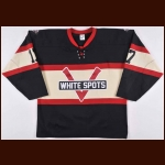 2011-12 Marek Tvrdon Vancouver Giants Game Worn Jersey - White Spots Throwback