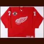 Late 1990's Doug Brown Detroit Red Wings Training Camp Worn Jersey