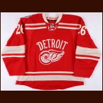 2013-14 Tomas Jurco Detroit Red Wings Winter Classic Game Issued Jersey – Rookie