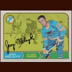 1968-69 OPC Gerry Melnyk St. Louis Blues Autographed Card – Deceased