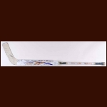 Jeff Deslauriers Edmonton Oilers White Reebok Game Used Stick – Team Letter