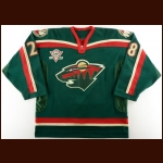 "2005-06 Todd White Minnesota Wild Game Worn Jersey – ""5-year Anniversary"" – Team Letter"