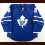 2008-09 Tim Stapleton Toronto Maple Leafs Game Worn Jersey – Rookie - 1st NHL Home Game