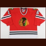 1998-99 Ed Olczyk Chicago Blackhawks Game Worn Jersey – Team Letter
