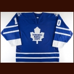 2002-03 Aaron Gavey Toronto Maple Leafs Pre-Season Game Worn Jersey