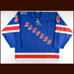 "2005-06 Jason Strudwick New York Rangers Game Worn Jersey – ""11"" - Mark Messier Night"