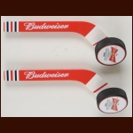 Lot of (2) Stick and Puck Budweiser Beer Taps