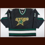 1997-98 Roman Turek Dallas Stars Game Worn Jersey – Rookie – Team Letter