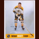 Bobby Orr Boston Bruins Single Signed October 16, 1968 Oakland Seals Full Program - 2nd Year Program