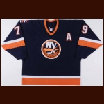 2001-02 Alexei Yashin New York Islanders Game Worn Jersey