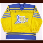 Early 1980's Pelle Lindbergh Swedish National Team Game Worn Jersey