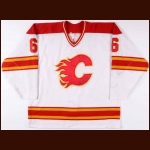 1993-94 James Patrick Calgary Flames Game Worn Jersey
