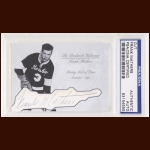 Frank Mathers Autographed Card - The Broderick Collection - Deceased