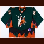 2001-02 Danny Markov Phoenix Coyotes Game Worn Jersey – Alternate – Team Letter