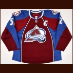 2009-10 Adam Foote Colorado Avalanche Game Worn Jersey – Photo Match - Team Letter