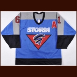 1993-94 Christian Skoryna Guelph Storm Game Worn Jersey