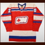 1972-73 Brian Conacher WHA Ottawa Nationals Game Worn Jersey - Inaugural Season - Photo Match