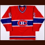 1984-85 Pierre Mondou Montreal Canadiens Game Worn Jersey