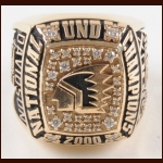 2000 Lee Davidson North Dakota Fighting Sioux 10k Gold NCAA Championship Ring –Lee Davidson Letter