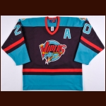 2000-01 Sheldon Keefe Detroit Vipers Game Worn Jersey – Rookie