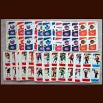 1982-83 Post Cereal NHL Hockey Complete Unperforated Set