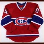 2010-11 Maxim Lapierre Montreal Canadiens Game Worn Jersey – Team Letter