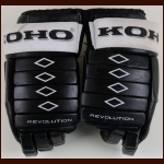 Karl Dykhuis Philadelphia Flyers Black Koho Game Worn Gloves