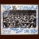 """Slap Shot"" Cast Members 8x10 Autographed Photo - With Paul Newman"