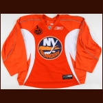 2009-10 Joel Rechlicz New York Islanders Pre-Game Worn Jersey – Halloween