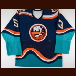 1997-98 Zdeno Chara New York Islanders Game Worn Jersey – Rookie - Debut Jersey - Photo Match